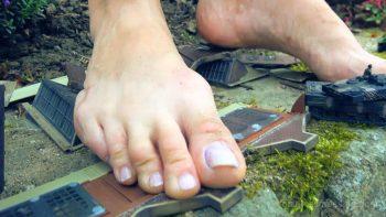 Giantess Loryelles Garden Warfare part two Foot Fetish