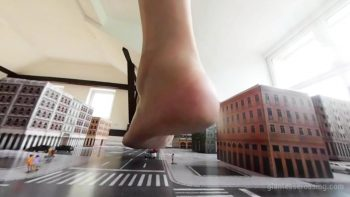 Loryelle Town Giantess Attack No1 Foot Fetish