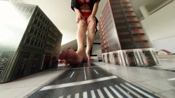 Giantess Town Attack Loryelle Foot Fetish Butt Crush