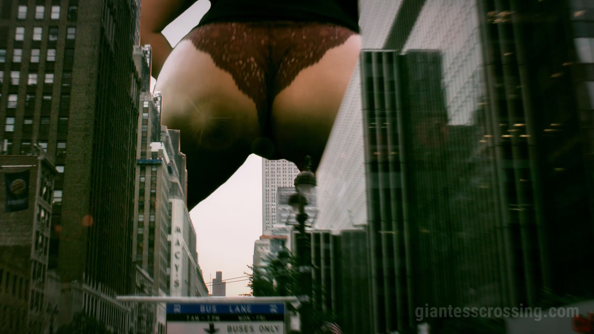 Giantess Loryelle City Rampage 2 SFX Foot Fetish Butt Crush