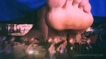 giantess city crush nightmare Loryelle No2 SFX foot fetish