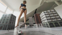 Giantess Loryelle Town Attack No 3 Foot Fetish POV