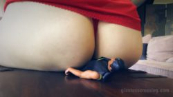 Giantess Loryelle Masturbation Punishment Foot Doll Fetish