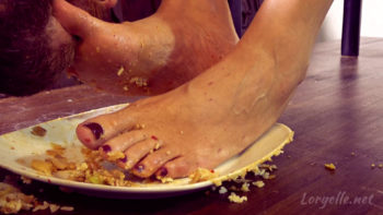 Loryelle Feet in Food My Smelly Feet in your Dinner Foot Fetish