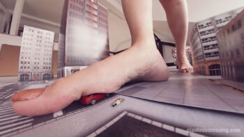 giantess stomping buildings vr360 goddess Loryelle feet city destroyer iii